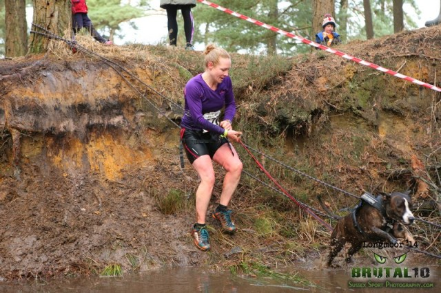 Canicross Brutal Run, Longmoor, Dec 2014