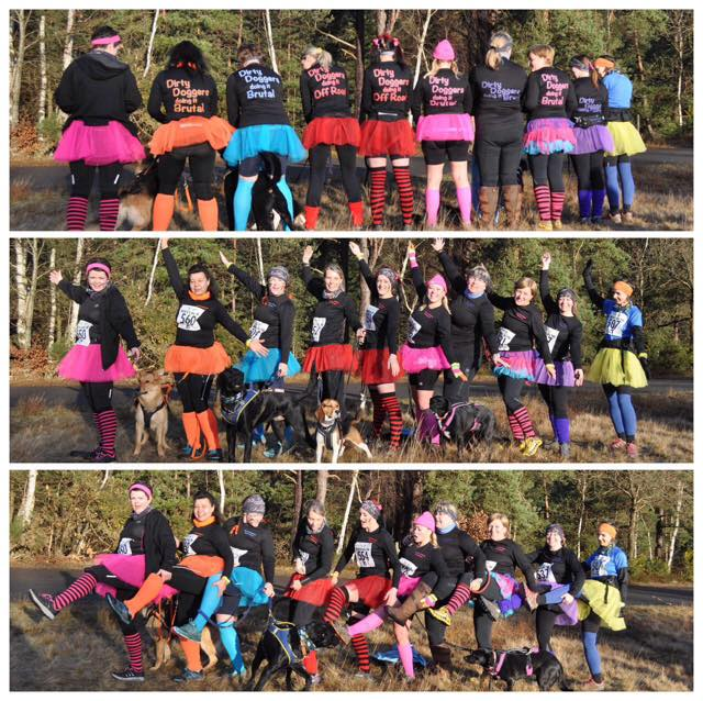 Hart & Rushmore canicrossers at the Women Only Brutal, 5km, 10km 24/01/2015